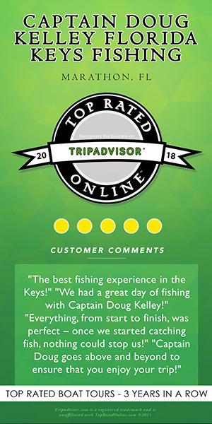 Captain Doug Kelley Florida Keys Fishing Charter Trip Advisor Top Rated Award 2018